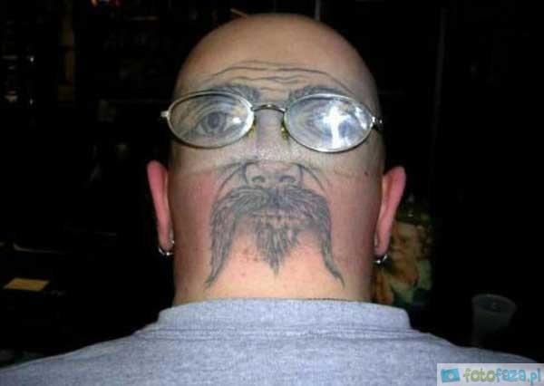 Tatuaż Na Głowie śmieszne I Ciekawe Zdjęcia Na Fotofazapl